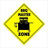 SignMission BBQ Master Crossing Sign Zone Xing |-| 50,8 cm Hoch Cook Grill Soul Food Southern
