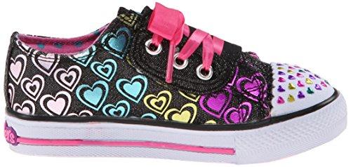 Skechers Shuffles Hopscotch, Baskets Basses Fille Noir