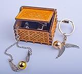 C'est Chic Hedwig – Caja de música de madera grabada a mano con diseño de Harry Potter – Excelente regalo para los fans de Saga. El paquete incluye: 1 pulsera + 1 llavero.