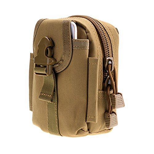 ruifu Outdoor Tactical Taschen MOLLE EDC Tasche Kompakt Outdoor Mehrzweck-Utility Gadget Werkzeug Gürtel Taille Tasche Khaki