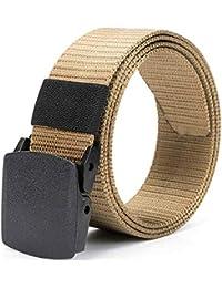 Cinturon de Mujer Belt Man Canvas Belt Young Students Hebilla Automática  Femenina Sin Hierro Plástico Al Aire… 9bfb5b4068f2