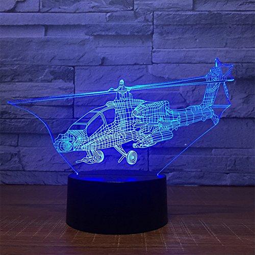 3D LED Lampe Nachtlicht Kämpfer 7 Farbwechsel Usb-Schnittstelle Remote Touch Switch Lichter mit Acryl Flat Nachttischlampe Kinder Adult Fantasy Lights Beste Geschenk Dekoration Lichter (Erstaunliche Fantasie)
