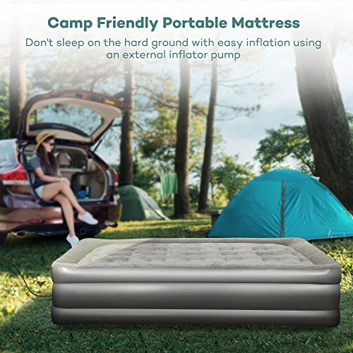 Sable Air Mattress with Built-in ... & Sable Air Mattress with Built-in Electric Pump and Repair Kit ...