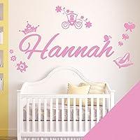 Personalised Name Girls Wall Art Sticker - Princess Cinderella Story