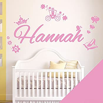 Personalised Name Girls Wall Art Sticker   Princess Cinderella Story    Please Message Us With The Name!