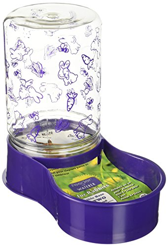 Lixit Animal Care Mini Rabbit Feeder Water Food Fountain Reversible Base 48oz