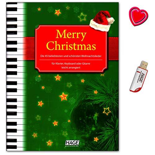 Merry Christmas. 45más populares y mejores canciones de Navidad para piano, teclado...
