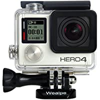 Wealpe Replacement Waterproof Dive Housing Underwater Protective Housing Case Compatible with GoPro Hero 4, 3+, 3 Cameras