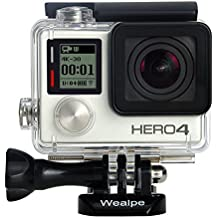 Wealpe Waterproof Dive Housing Underwater Protective Housing Case for GoPro Hero 4, 3+, 3 Cameras