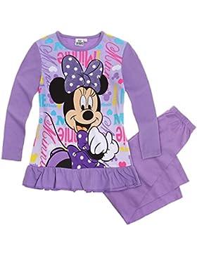 Disney Minnie Mädchen Pyjama Schlafanzug - violett