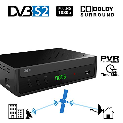 Récepteur satellite DVB S2 pour transmetteurs publics (PVR-Ready, DVBS2, Full HD, HDMI, Dolby Digital, SCART, USB 2.0, LNB IN / OUT, Coaxial, Mediaplayer, Remote)