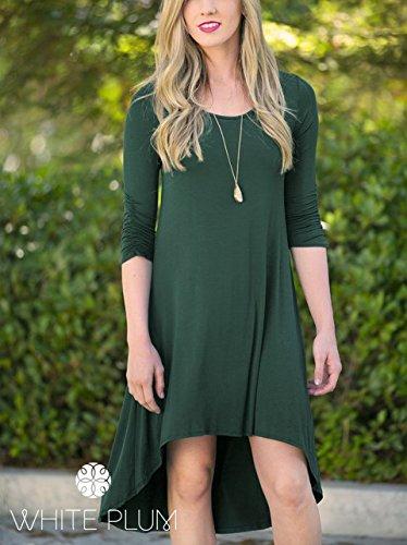 Leezeshaw Damen Kleid Grün