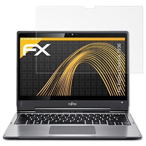 atFolix Panzerfolie kompatibel mit Fujitsu Lifebook T936 Schutzfolie, entspiegelnde und stoßdämpfende FX Folie (2X)