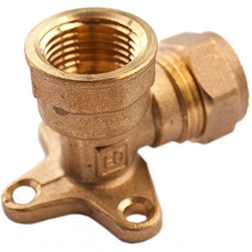 Plumb-Pak-Compression-Wallplate-Elbow-15mm-x-12inch-Female