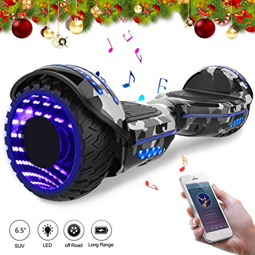 Mega Motion Self Balance Scooter Elettrico 6.5\'\' E-Star,Scooter Elettrico Auto bilanciamento, Ruote con LED, Tenda LED, Altoparlante Bluetooth, Motore 700W,Modello E-Star