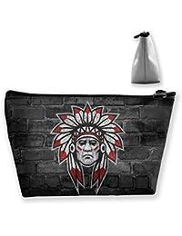 Organizador cosmético portátil del Bolso del Maquillaje del Viaje de Prefessional del Indio del Nativo Americano