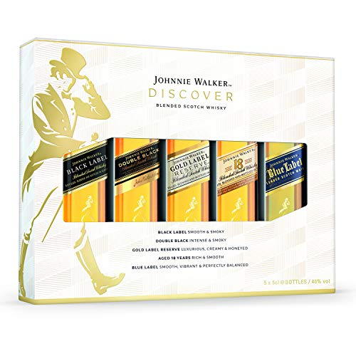*Johnnie Walker Blended Scotch Whisky 5x 5cl Gift Pack*