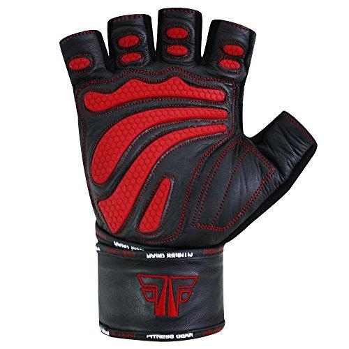 EXTREME Fitness Kraftsport Trainings Handschuhe Kraftsporthandschuhe Bodybuilding FOX-FIGHT - 6