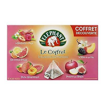 Elephant Infusions Parfumées Coffret 50 Sachets 94g