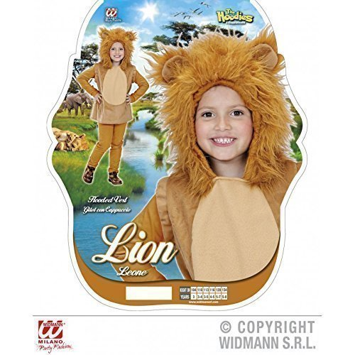 Preisvergleich Produktbild Putziges Kinderkostüm kleiner Löwe ( Weste mit Kapuze ) Gr. 134