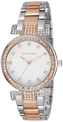 Giordano Analog White Dial Women's Watch - A2057-77