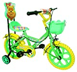 #4: Kids Bicycle for 2 to 5 Years Kids NY Bikes Aqua 14T Steel (Green & Yellow)