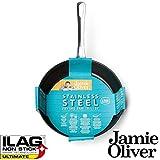 Jamie Oliver Edelstahl Bratpfanne 28 cm / Geeignet für alle Herdarten inklusiv...