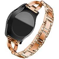 Hunpta@ Uhrenarmband für Samsung Gear S2 Classic R732 Ersatz-Metall-Kristall-Armband