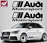 2x Aufkleber Audi Motorsport 300x 96mm, gt-design, Decals, peganitas, Aufkleber, A2, A3, A1, A6, A8, A7, A5, RS, TT, Q5, Q7, R8, Sport