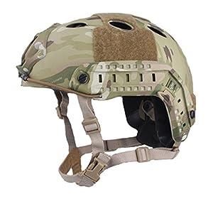 SWAT Combat Réglable PJ Type Rapide Casque Multicam MC (L / XL) pour Tactique Armée Militaire CQB Tournage Airsoft Paintball