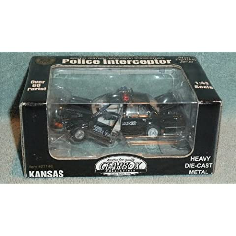 GEARBOX COLLECTIBLE 1:43 MINT PRECISION SERIES 2001 FORD CROWN VICTORIA KANSAS STATE TROOPER POLICE INTERCEPTOR DIE-CAST by GEARBOX
