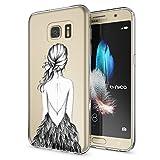 NALIA Handyhülle für Samsung Galaxy S7, Slim Silikon Motiv Case Hülle Crystal Schutzhülle Dünn Durchsichtig, Etui Handy-Tasche Back-Cover Transparent Bumper für Samsung S7, Designs:Bird Princess