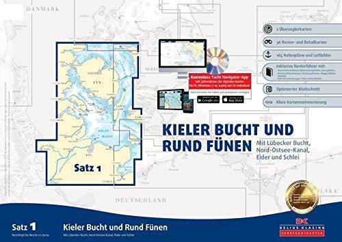 Sportbootkarten Satz 1: Kieler Bucht und Rund Fünen (Ausgabe 2019): Mit Lübecker Bucht, Nord-Ostsee-Kanal, Eider und Schlei
