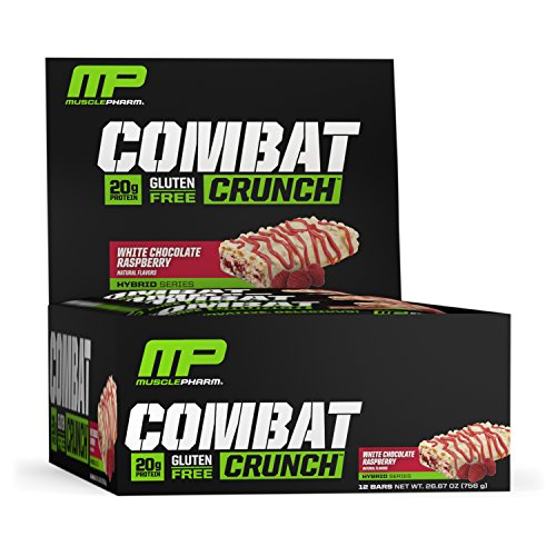 MusclePharm Combat Crunch Bars (12x63g) White Chocolate Raspberry, 756 g