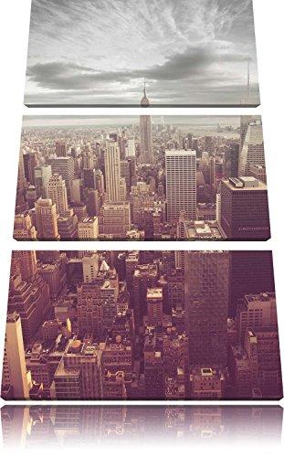 Visualizza immagine Elicottero Manhattan Nero / Bianco 3 pezzi tela di canapa 120x80 di su tela, XXL enormi immagini completamente Pagina con la barella, stampe d'arte sul murale cornice gänstiger come la pittura o un dipinto ad olio, non un manifesto o un