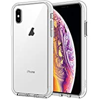 JETech Case for Apple iPhone XS and iPhone X, Shockproof Transparent Bumper Cover, Anti-Scratch Clear Back, HD Clear