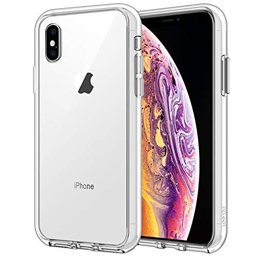JETech Cover per iPhone XS e iPhone X, Trasparente Custodia con Paraurti Assorbimento degli urti e Anti-Graffio, HD Chiaro