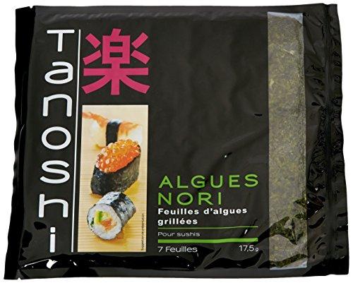 Tanoshi Feuilles d' Algues Grillées Noir 17,5 g - Lot de 5