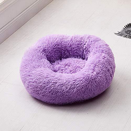 Cama Perro Felpa Suave Bolsa Dormir Forma Redonda