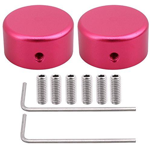 Aluminium Fuß Nagel Schutz Gitarre Effekt Pedal Schlüssel 2Pcs 10mm zusätzliche 4Picks für zufällige Farben rot -