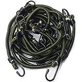 Timtina - Cuerda elástica para anclar equipaje, 12piezas, varias longitudes