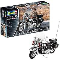 Revell 07915 - Modellbausatz Motorrad 1:8 - US Police Motorbike im Maßstab 1:8, Level 4, orginalgetreue Nachbildung mit Vielen Details