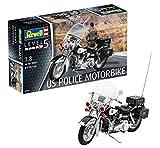 Revell 80-7915, 30,2cm Spielzeug Modellbausatz Motorrad US Police Motorbike im Maßstab 1:8, Level 4, orginalgetreue Nachbildung mit vielen Details, Multicolour