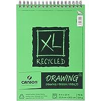 Canson XL Reciclado Espiral Papel de Dibujo Pad 9x 12-inch60Hojas