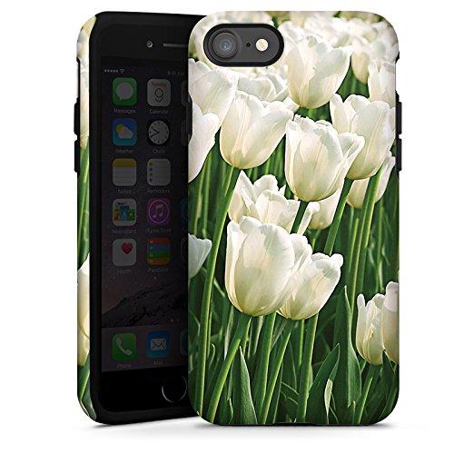 Apple iPhone X Silikon Hülle Case Schutzhülle Tulpen Blumen Blumenwiese Tough Case glänzend