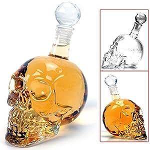 1000 ml novità Cool speciale vetro teschio birra acqua bottiglia vino Decanter
