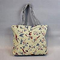 Preisvergleich für Yudanwin Leinwand-Lunch-Tasche Student Lunch Bag Cartoon Lunch Box Tasche Picknick Tasche (zweite)