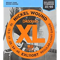 D'Addario Cordes en nickel pour guitare électrique D'Addario EXL110BT, Balanced Regular Light, 10-46
