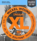 #9: D'Addario EXL110BT Nickel Wound 10-46 Regular Light Electric Guitar Strings