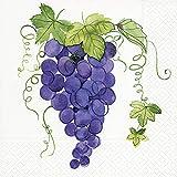 20 servilletas de uvas azules para beber vino